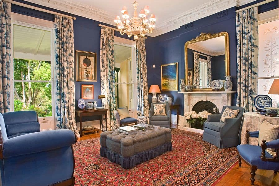 blue living rooms living room ideas victorian living room - Victorian Living Rooms