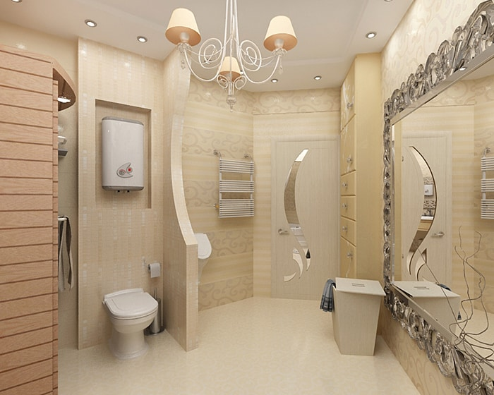 Modern bathroom design art nouveau bathroom for Paintings for bathroom decoration