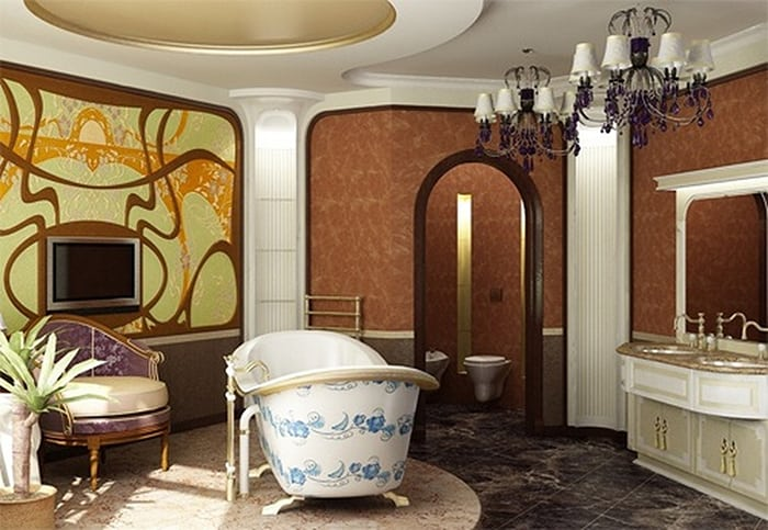 Modern Bathroom Design Art Nouveau Bathroom House Interior