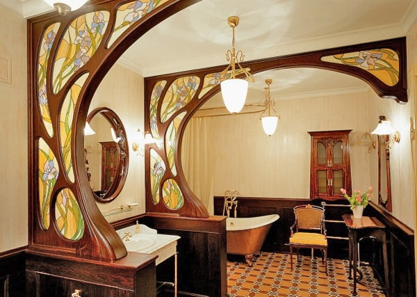 Modern bathroom design art nouveau bathroom house interior for Art nouveau bathroom design
