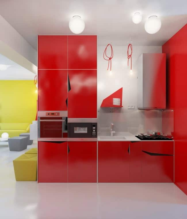 White And Red Kitchen Excellent Red Not Your Colour We
