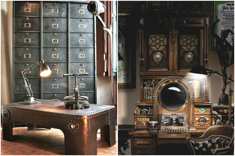 room decor for teens steampunk bedroom house interior. Black Bedroom Furniture Sets. Home Design Ideas