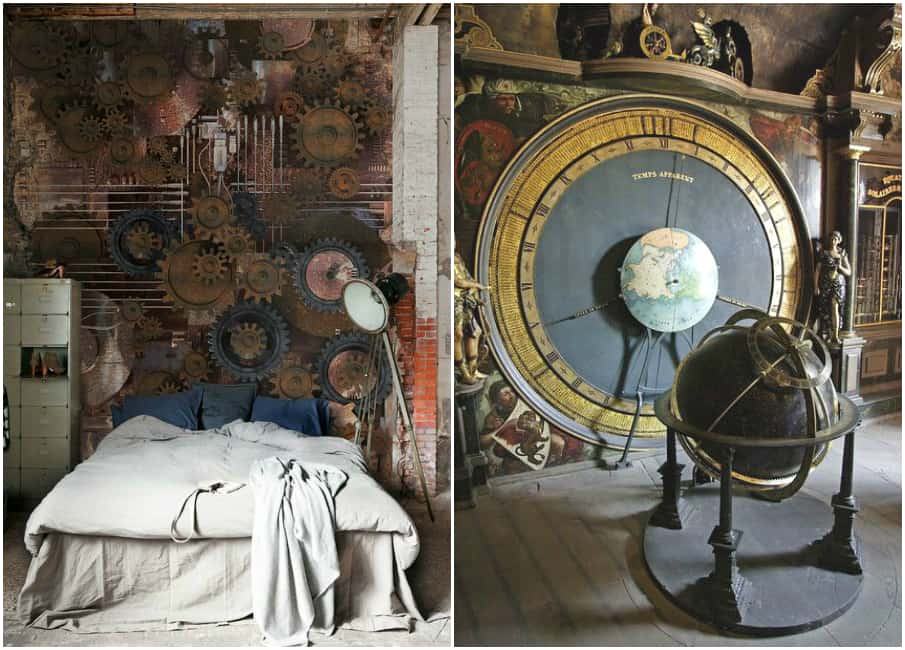 room decor for teens steampunk bedroom - Steampunk Interior Design Ideas