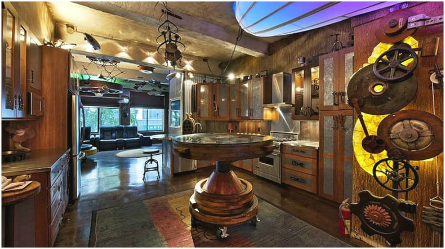 Room decor for teens steampunk bedroom house interior for Steam room design plans
