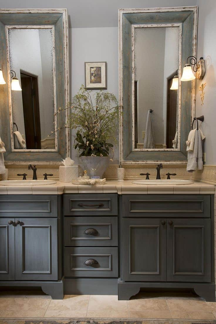 Bathroom design ideas french bathroom decor house interior - Master bath vanity design ideas ...