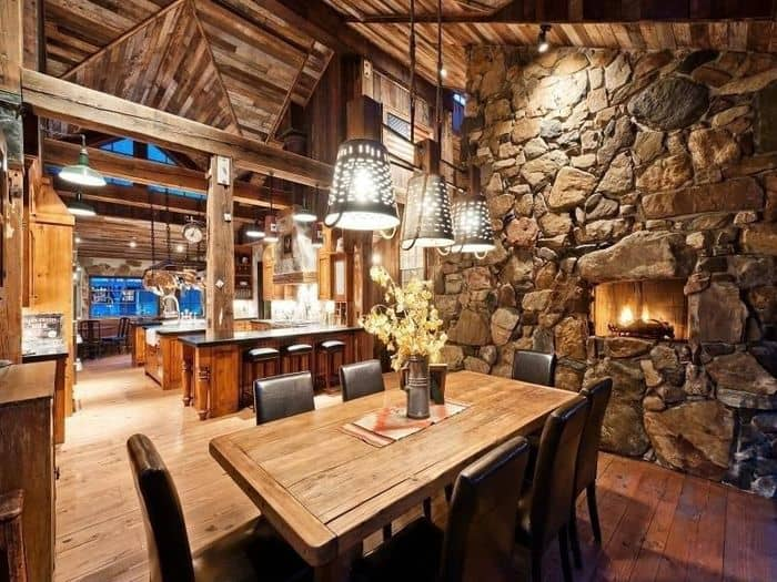 Dining room ideas rustic house interior