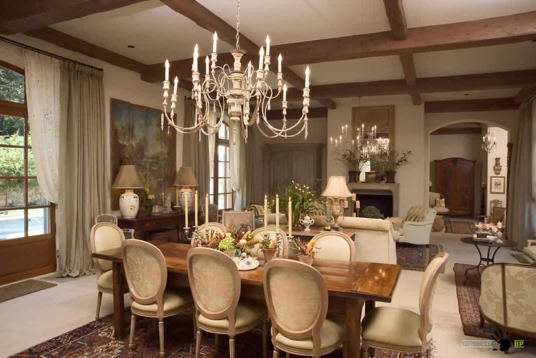 Dining room ideas rustic dining room for Living room and dining room ideas