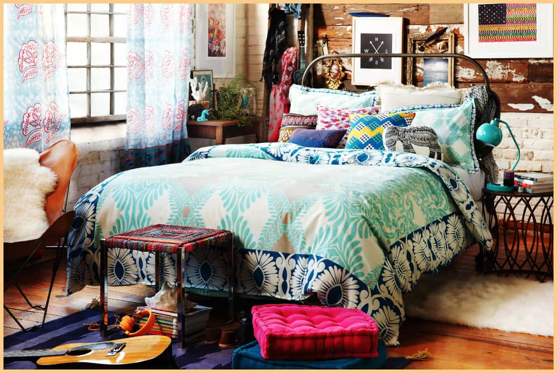 Interior trends 2017 hippie bedroom decor for Chambre urban outfitters