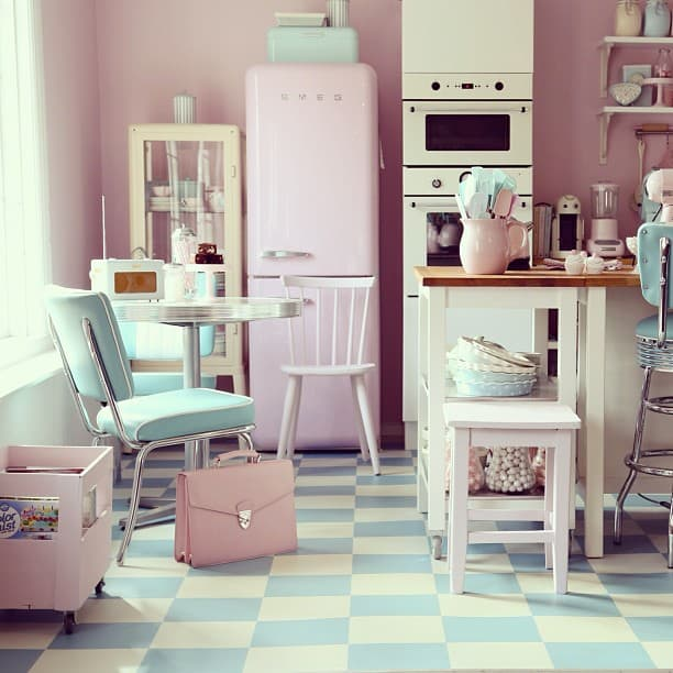 Interior Design Trends 2017: Pink Kitchen