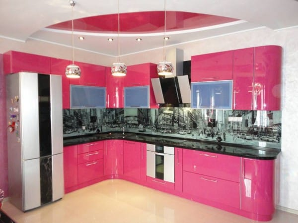 Interior design trends 2017 pink kitchen for Kitchen decoration pink