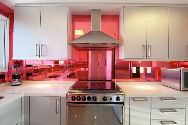 Interior design trends 2017 pink kitchen house interior for Kitchen decoration pink