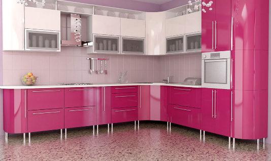 Interior Design Trends 2017: Pink Kitchen
