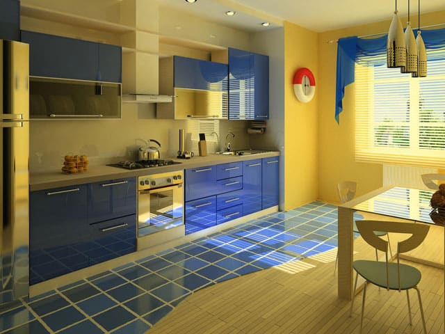 Colors Of The Sea Kitchen Ideas