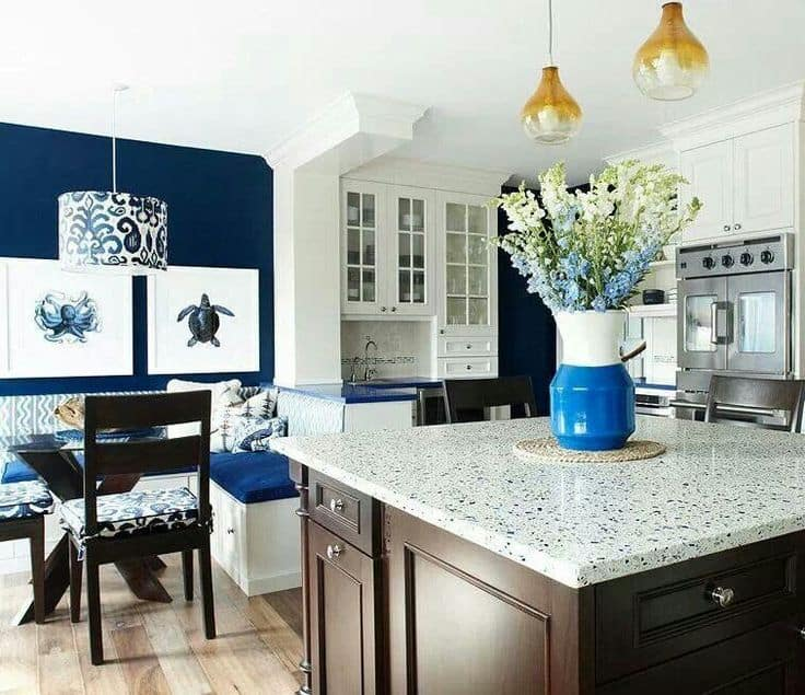 kitchen design nautical kitchen decor With what kind of paint to use on kitchen cabinets for large nautical wall art