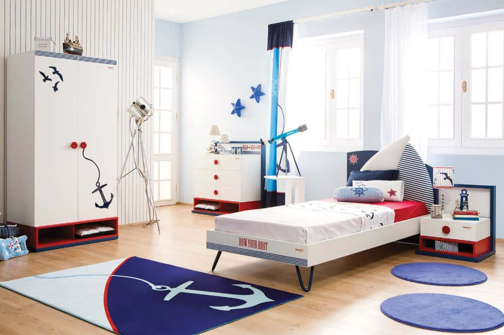 Home decor trends 2017 nautical kids room for Children s bedroom ideas