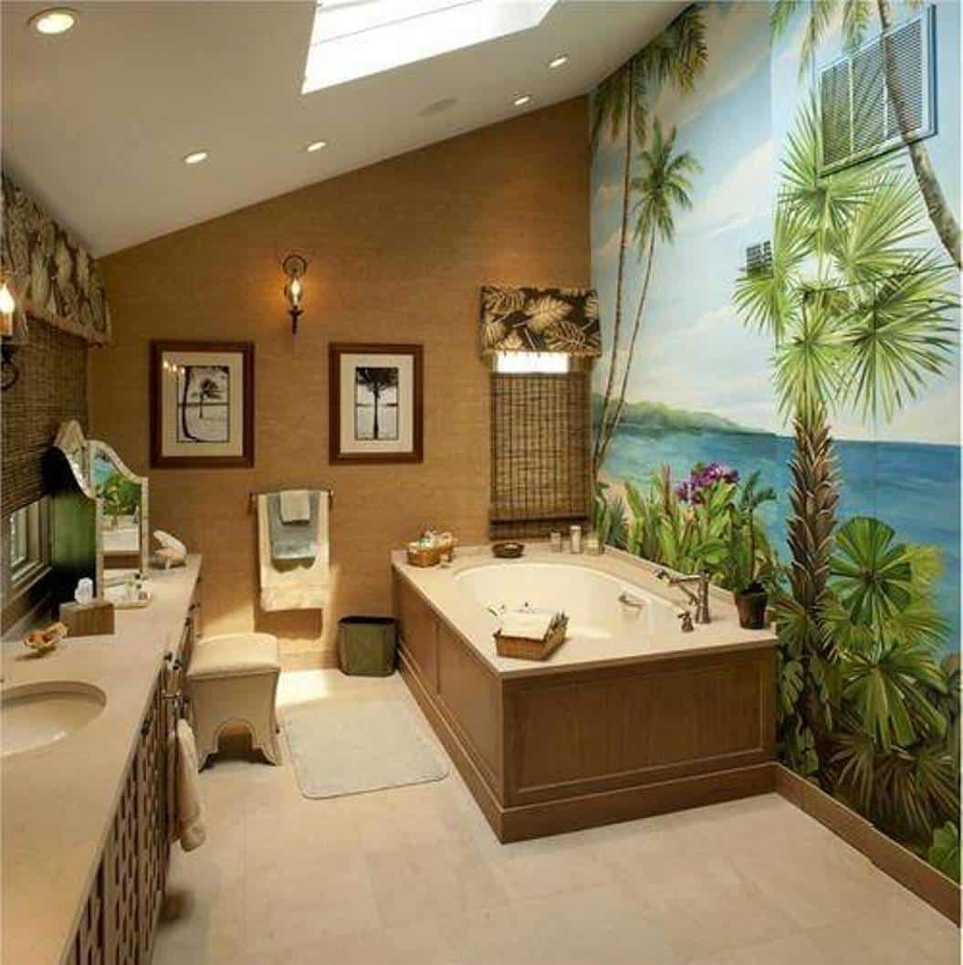 Interior design 2017 ombre bathroom house interior for Ideas for bathroom decorating themes