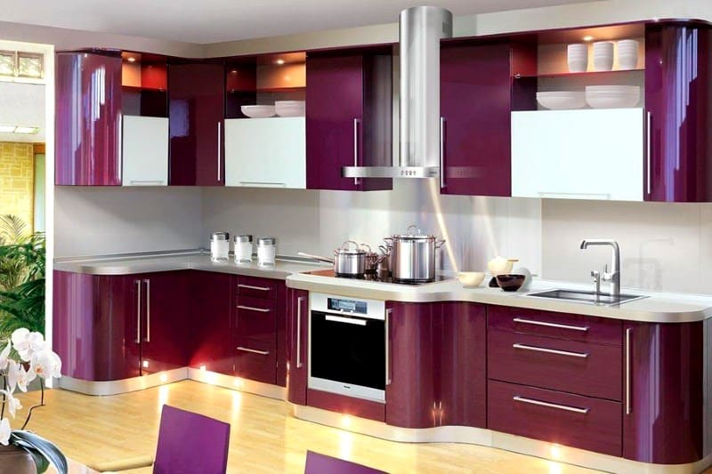 Interior design trends 2017 purple kitchen for Contemporary kitchen decorative accessories