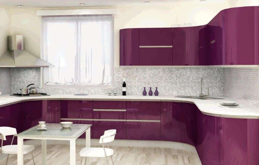 Interior design trends 2017 purple kitchen - Modern kitchen design and decor ...