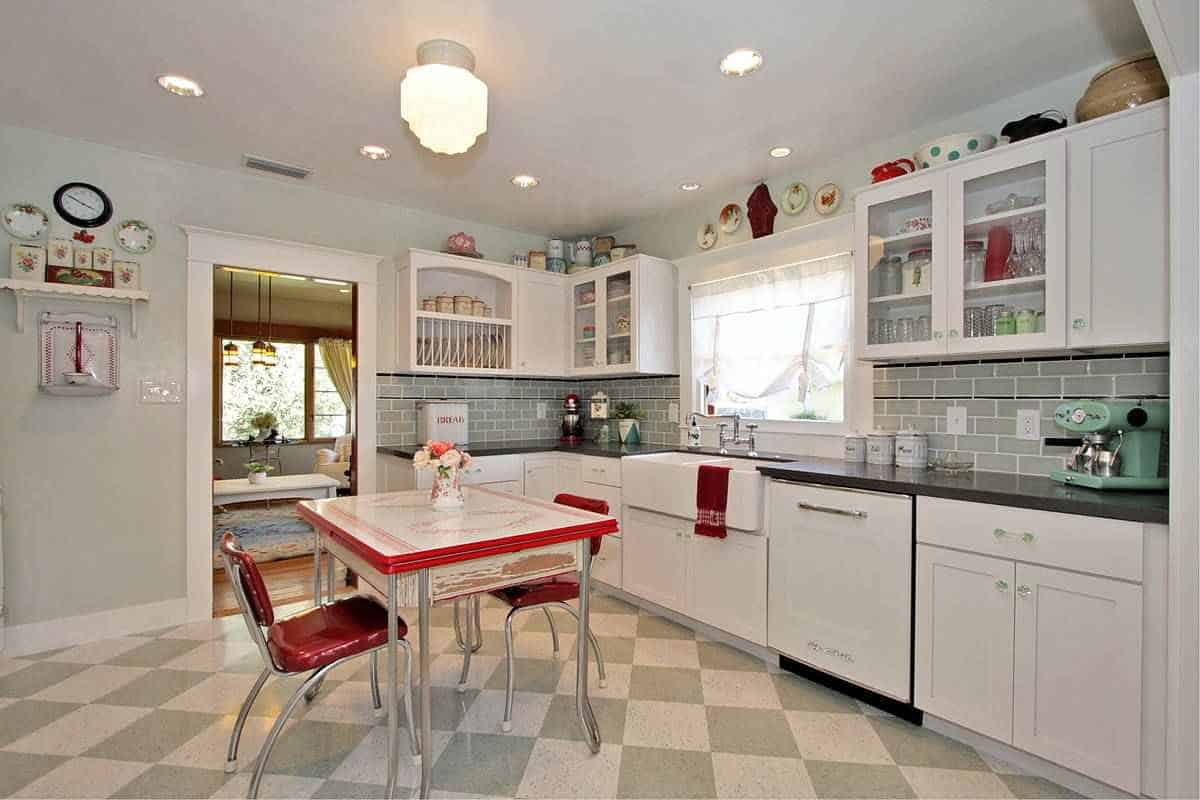 Kitchen design ideas retro kitchen for Kitchen decorating ideas photos