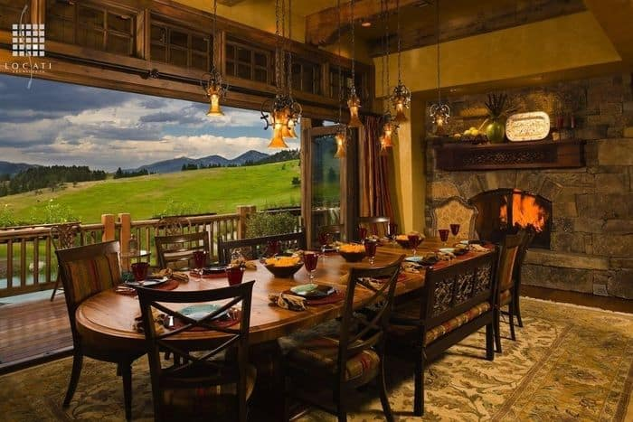 Dining room ideas rustic dining room for Rustic dining room