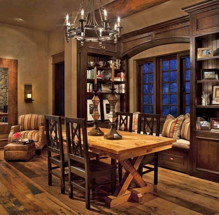 Dining room ideas rustic dining room for Decorating contemporary dining room