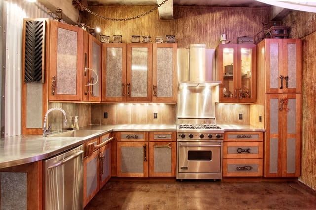 Corrugated Metal Kitchen Cabinets