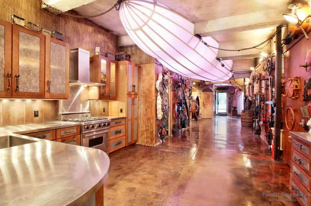 Kitchen decor ideas steampunk kitchen house interior Steampunk interior