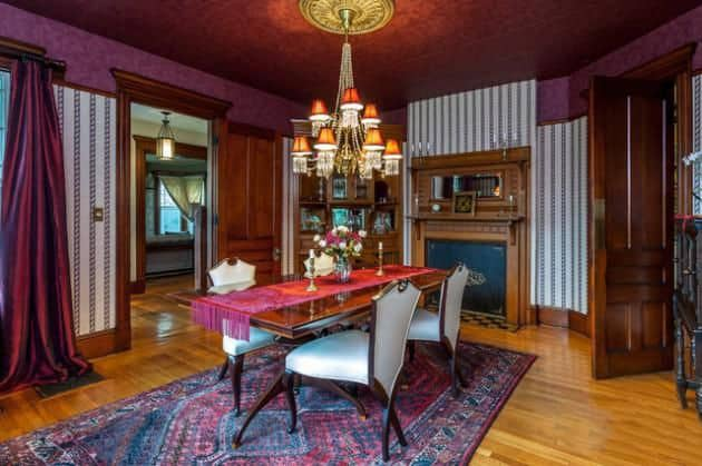 Dining room decorating ideas victorian dining room Victorian dining room colors