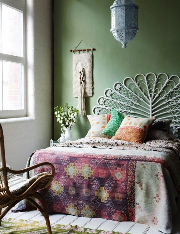 interior design trends 2017 boho bedroom house interior. Black Bedroom Furniture Sets. Home Design Ideas