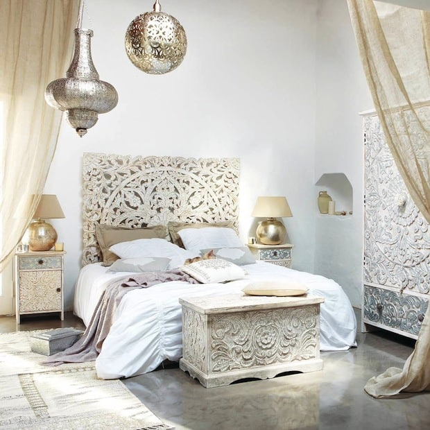 Interior design trends 2017 boho bedroom house interior for Trendy home furnishings