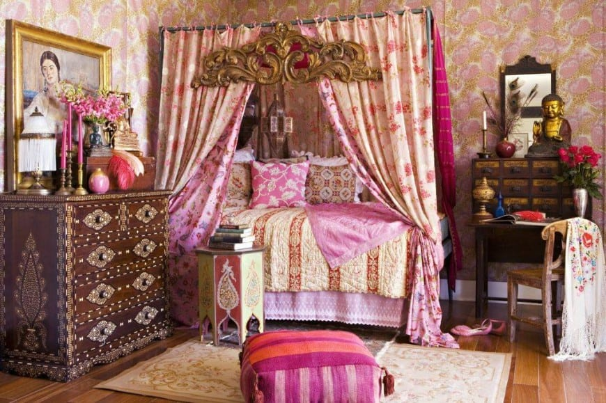 Boho-bedroom-boho-room decor-bedroom-ideas-interior-design-trends-2017-home-decor-trends-2017