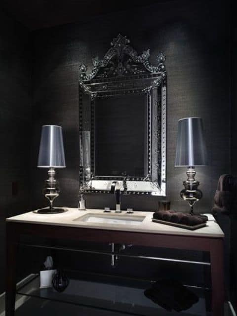 Home decor trends 2017 gothic bathroom house interior Interior design black bathroom