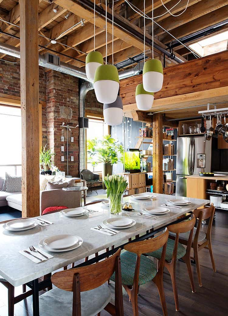 Decorating trends 2017 industrial dining room house for Quirky dining room ideas