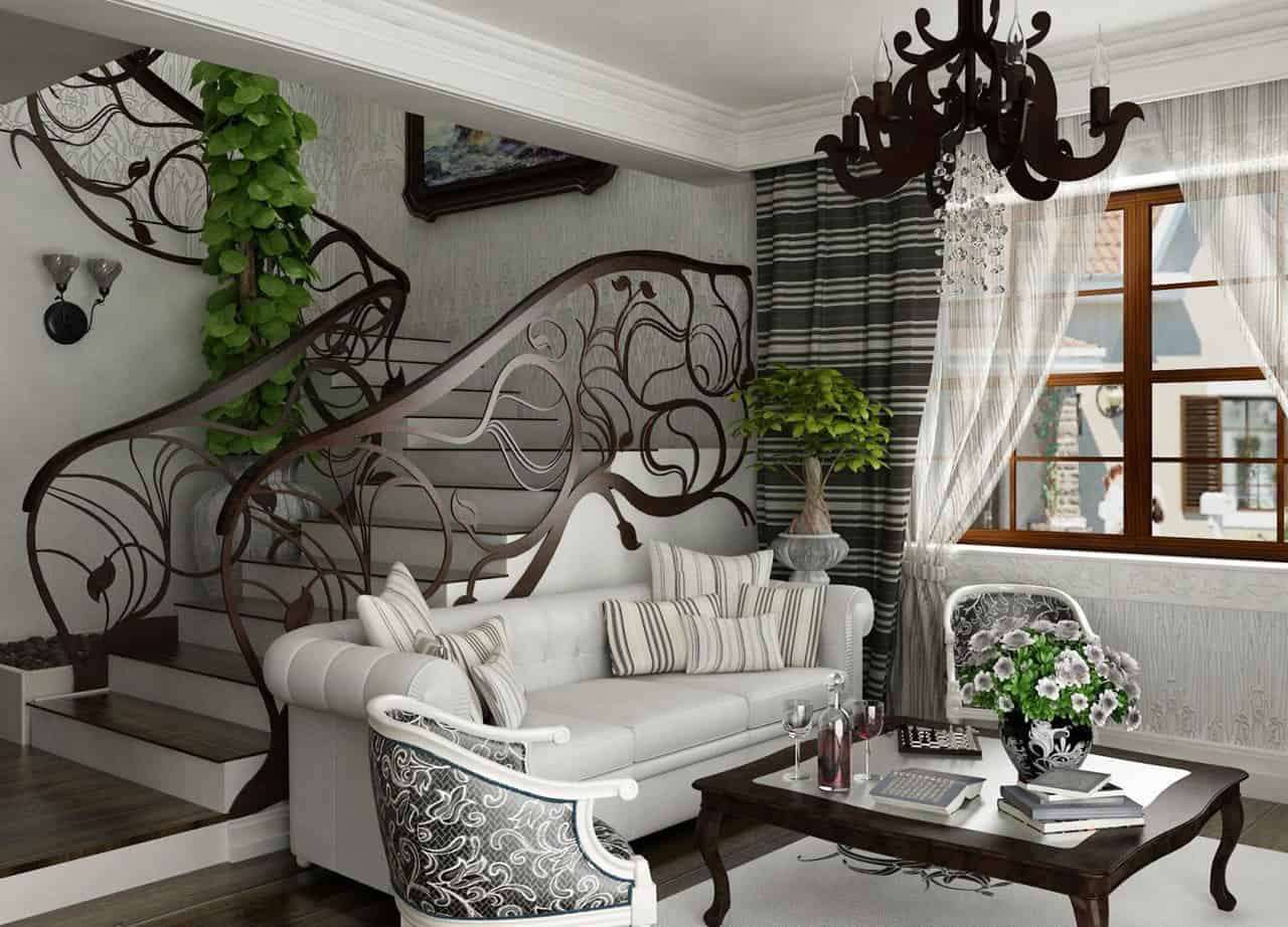 Interior design trends 2017 modern living room for Interior design curtains