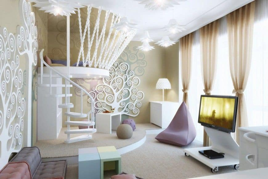 Modern Living Room Art Nouveau Design