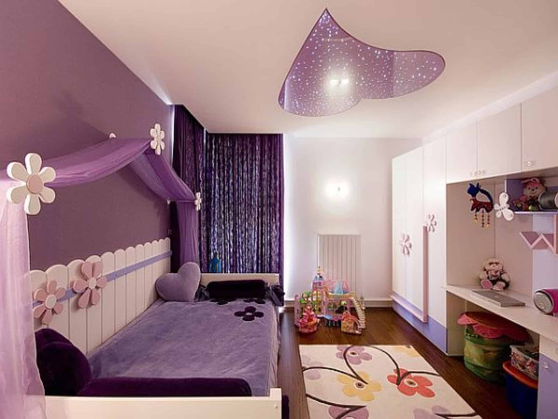 Home decor trends 2017 purple teen room for Bedroom mural designs