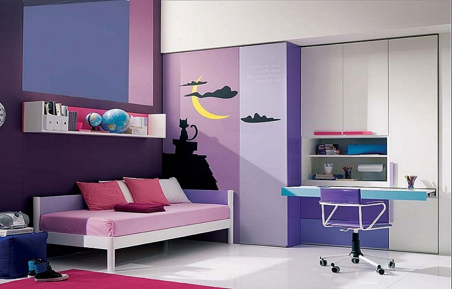 Home decor trends 2017 purple teen room house interior for Trendy bedroom ideas