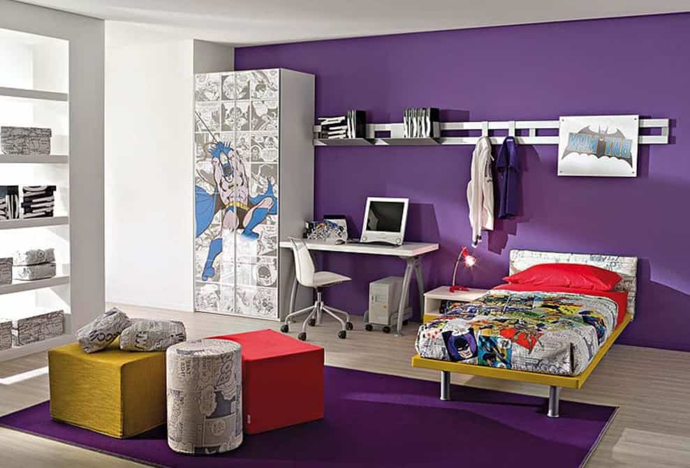 Home decor trends 2017 purple teen room house interior for Art room mural ideas