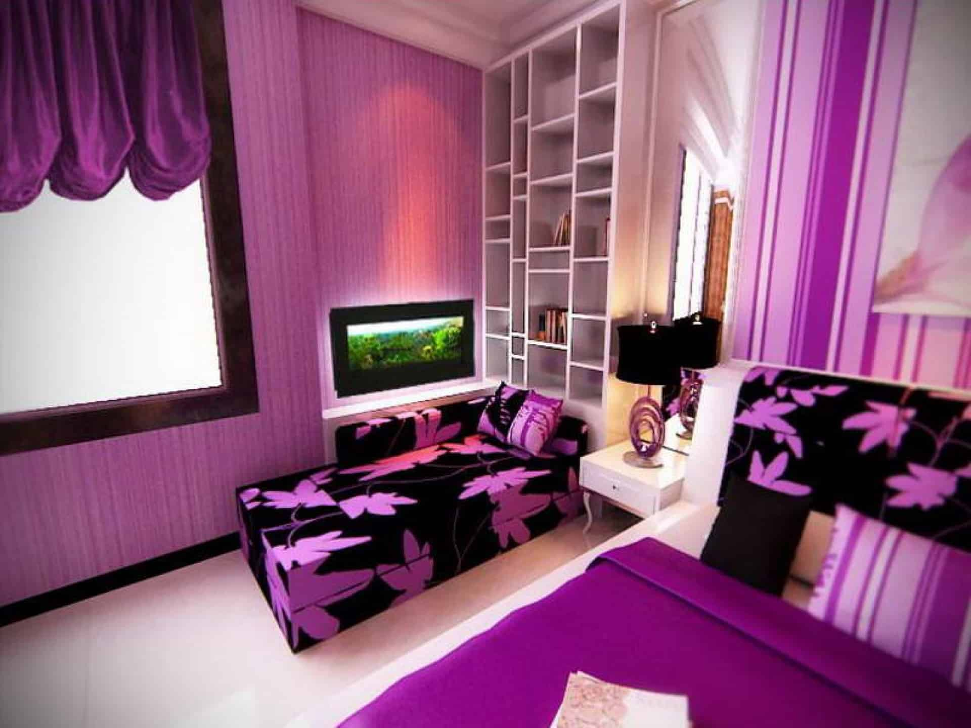 home decor trends 2017: purple teen room