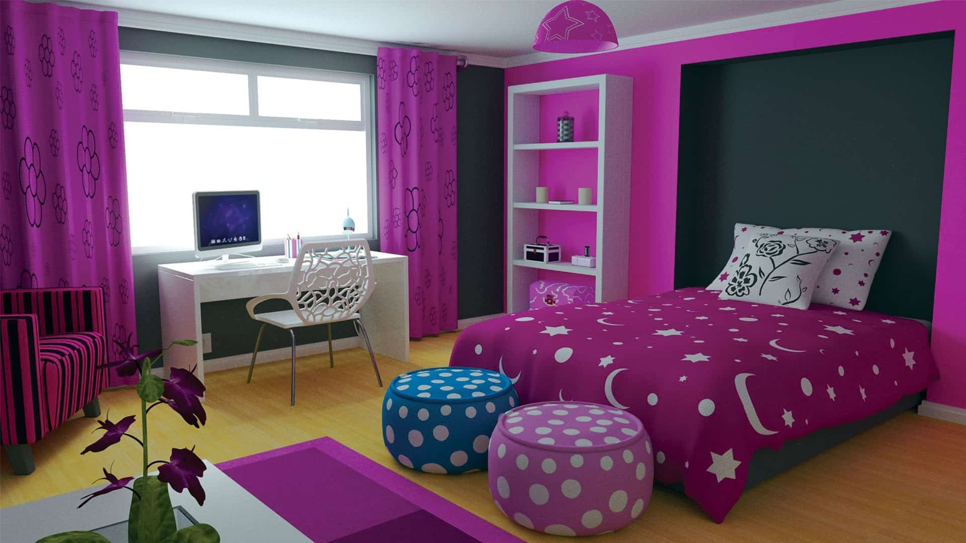 Home decor trends 2017 purple teen room for Purple and white bedroom designs