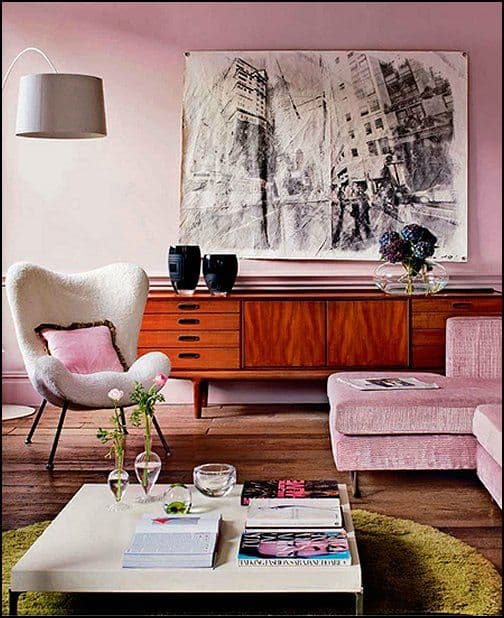 Modern Vintage Home Decor Ideas: Interior Design Trends 2017: Retro Living Room