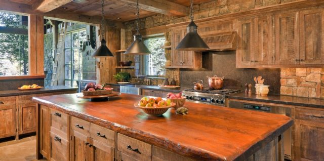 Rustic-kitchen-decor- kitchen-decorating-ideas- modern-kitchen-design- interior-design-trends-2017- decorating-trends-2017
