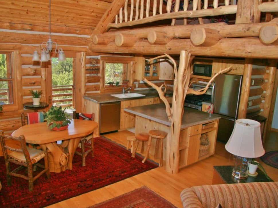 Interior design trends 2017 rustic kitchen decor house interior Log home kitchen design ideas