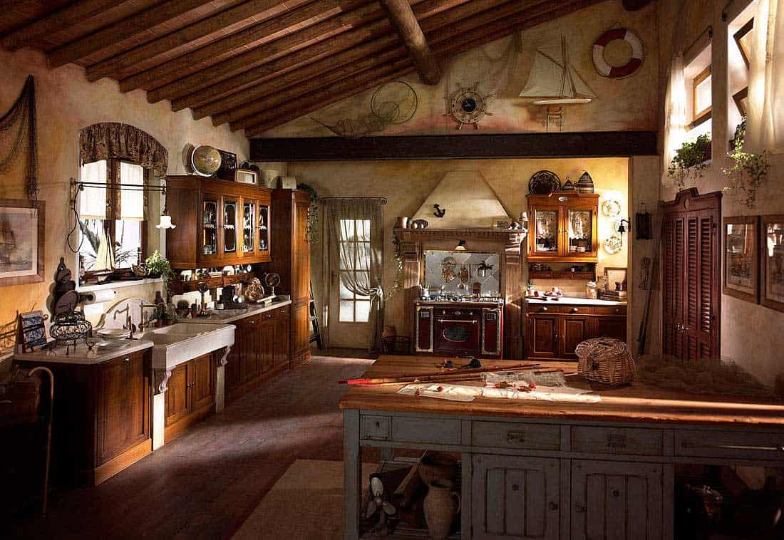 Interior design trends 2017: Rustic kitchen decor