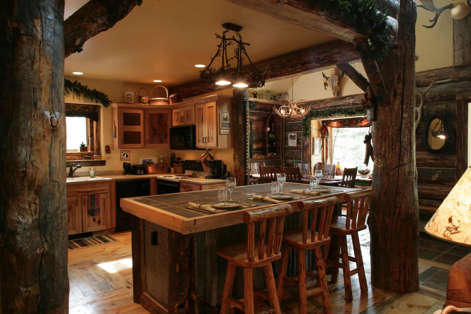 Interior design trends 2017 rustic kitchen decor house Log homes interiors