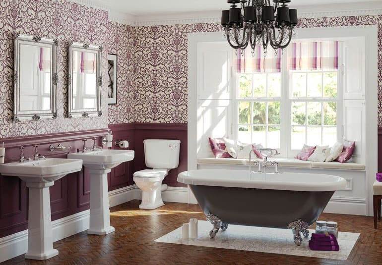 Interior trends 2017: Vintage bathroom - Curtains For Dining Room Ideas