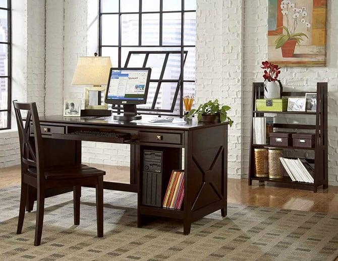 Vintage-office- office-design-ideas- office-decor- interior-design-2017- home-decor-trends-2017