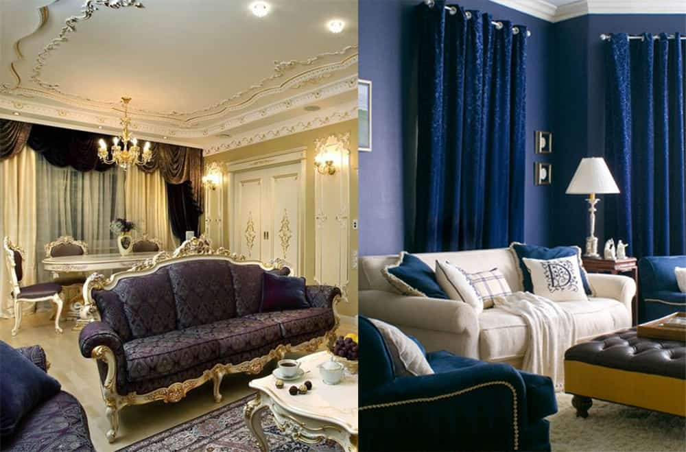 Baroque curtains velvet for big and small Living room 2020