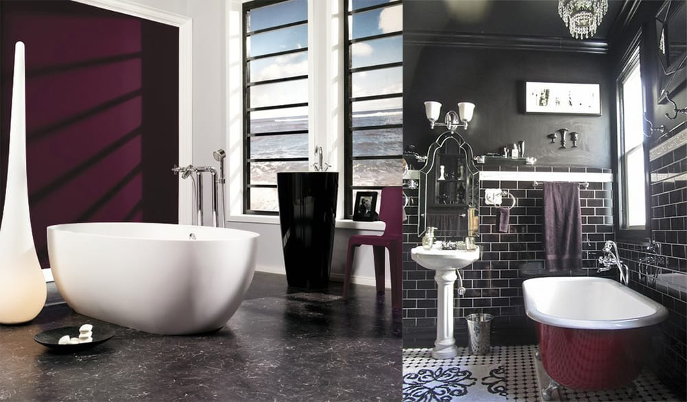Berry shades Bathroom trends 2020