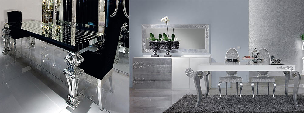Silver in dining room design 2018